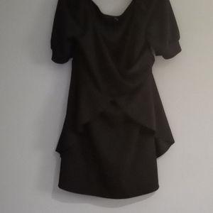 Boohoo little black dress off the shoulder